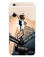 Недорогие -Кейс для Назначение Apple iPhone 6 Plus / iPhone 6 С узором Кейс на заднюю панель Вид на город Мягкий ТПУ для iPhone 6s Plus / iPhone 6s / iPhone 6 Plus