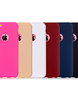 cheap -For iPhone 7 7 Plus 6s 6 Plus Back Cover Case Solid Color Soft TPU