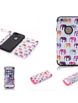 cheap -Case For Apple iPhone 6 iPhone 6 Plus Water Resistant Dustproof Shockproof Full Body Cases Elephant Soft Silicone for iPhone 6s Plus