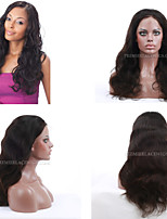 cheap -Human Hair Full Lace Lace Front Wig Natural Wave 100% Hand Tied African American Wig Natural Hairline Short Medium Long 130% Density