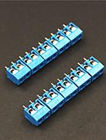 2 pinos terminais 5,0 milímetros blocos conectores - azul (5 peças)