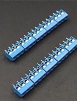 Terminali 5,0 millimetri blocchi connettori a 3 pin - blu (10 pezzi)