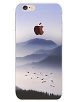 Недорогие -Кейс для Назначение Apple iPhone 8 / iPhone 8 Plus / iPhone 6 Plus С узором Кейс на заднюю панель Пейзаж Мягкий ТПУ для iPhone 8 Pluss / iPhone 8 / iPhone 6s Plus