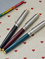 cheap -Extra-fine Silver Pen Cap Fountain Pen(Random Color)