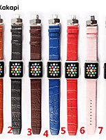 cheap -Watch Band for Apple Watch Series 3 / 2 / 1 Apple Wrist Strap Butterfly Buckle Genuine Leather