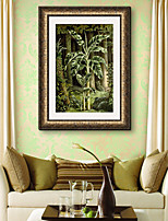 cheap -Botanical Floral/Botanical Landscape Framed Canvas Framed Set Wall Art,PVC Material With Frame For Home Decoration Frame Art Living Room