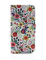 economico -Custodia Per Apple iPhone 8 / iPhone 8 Plus / iPhone 6 Plus A portafoglio / Porta-carte di credito / Con supporto Integrale Fiore decorativo Resistente pelle sintetica per iPhone 8 Plus / iPhone 8