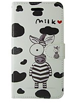 cheap -Case For Apple iPhone 5 Case Card Holder Wallet with Stand Flip Full Body Cases Animal Hard PU Leather for iPhone SE/5s