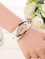 Недорогие -Жен. Модные часы Кварцевый Кожа Аналоговый Элегантный стиль - Винный Темно-русый Темно-коричневый Два года Срок службы батареи / Нержавеющая сталь