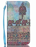 cheap -Elephant PU Leather Wallet Hand Strap Phone Case for Samsung Galaxy S3/S3MI/S4/S4MINI/S5/S5MINI/S6/S6 Edge/S6 edge