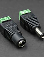 connecteur d'alimentation DC femelle + mâle pour la vidéo-surveillance (pair / 12V DC)