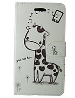 cheap -Case For Apple iPhone 5 Case Card Holder Wallet with Stand Flip Full Body Cases Cartoon Animal Hard PU Leather for iPhone SE/5s