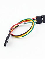 dupont 5 broches 2,54 mm femelle pour câble de fil d'extension femelle pour arduino- (20cm)
