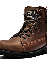 cheap -Men's Shoes Silk Nappa Leather Winter Fall Cowboy / Western Boots Fashion Boots Combat Boots Boots Booties/Ankle Boots for Casual Outdoor