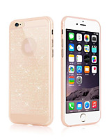 abordables -Funda Para Apple iPhone 6 iPhone 6 Plus Ultrafina Funda Trasera Brillante Suave TPU para iPhone 6s Plus iPhone 6s iPhone 6 Plus iPhone 6
