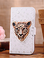 cheap -For Samsung Galaxy Case Card Holder / Rhinestone / Flip Case Full Body Case Animal PU Leather SamsungS7 edge / S7 / S6 edge plus / S6