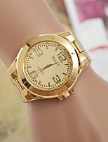 abordables -Hombre Mujer Pareja Reloj de Moda Cuarzo suizo De Diseño Aleación Banda Dorado Dorado Blanco