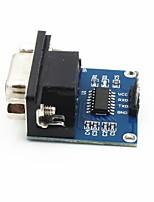 RS232 à TTL module de communication w / indicateur - bleu + noir