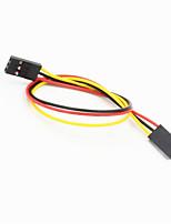 dupont 3 broches 2,54 mm femelle pour câble de fil d'extension femelle pour arduino- (20cm)
