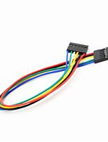 DuPont 6-pin 2,54 milímetros fêmea de cabo de fio de extensão do sexo feminino para arduino- (20cm)