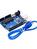 uno r3 para arduino (neutro) placa de desenvolvimento, microcomputador single-chip para cabo USB