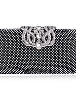 preiswerte -Damen Taschen Metall Abendtasche Kristall Verzierung für Hochzeit Veranstaltung / Fest Alle Jahreszeiten Gold Schwarz Silber