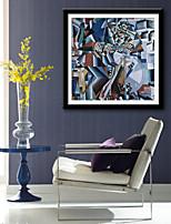 preiswerte -Abstrakt Fantasie Freizeit Gerahmtes Leinenbild Gerahmtes Set Wandkunst,PVC Stoff Mit Feld For Haus Dekoration Rand Kunst Wohnzimmer