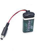 9v batería + hebilla de batería para arduino 2560 / 2560r3 / uno / Uno R3 / 328 - verde + negro