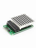 MAX7219 Red Dot Matrix Module w/ 5-Dupont Lines