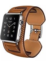 abordables -Bracelet de Montre  pour Apple Watch Series 3 / 2 / 1 Apple Sangle de Poignet Boucle Classique Vrai Cuir