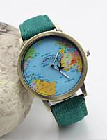 Недорогие -Жен. Модные часы Кварцевый Кожа Черный / Белый / Синий Аналоговый Красный Зеленый Синий