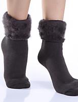 Women's Hosiery Warm Socks,Acrylic Floral 1set Navy Blue Dark Gray Red Black Brown