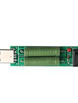 taxa de detecção de corrente usb instrumento de teste de carga 2a / descarga 1a envelhecimento adaptador de energia resistência