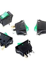 interrupteur à bascule vert 16 * 32mm commutateur trépied 3p alimentation à bascule