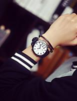 baratos -Homens Relógio Esportivo Quartzo Preta Analógico Branco Preto