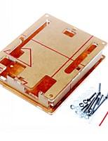 caso gabinete caixa de acrílico transparente tampa transparente para arduino uno r3 bordo r3