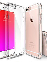 abordables -Coque Pour Apple iPhone 6 iPhone 6 Plus Transparente Coque Couleur unie Flexible TPU pour iPhone 6s Plus iPhone 6s iPhone 6 Plus iPhone 6
