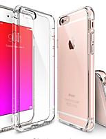 Недорогие -Кейс для Назначение Apple iPhone 6 iPhone 6 Plus Прозрачный Кейс на заднюю панель Сплошной цвет Мягкий ТПУ для iPhone 6s Plus iPhone 6s