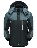 Men's Regular Padded Coat,Simple Sports Casual/Daily Solid-Polyester Polyester Long Sleeves