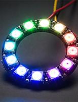 ws2812 5050 rgb 12 guidato rotondo scheda di sviluppo lampada - nero