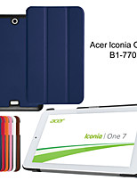 tri-dobra de ultra tampa da caixa de couro fino para acer iconia um 7 b1-770 7〃 comprimido