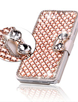 cheap -Case For Apple iPhone 6 iPhone 6 Plus Card Holder Rhinestone with Stand Flip Full Body Cases Glitter Shine Hard PU Leather for iPhone 6s