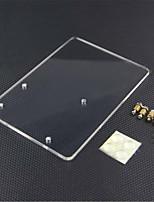 acrílico placa plataforma experimental para arduino uno r3 - transparente