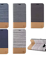 cheap -Luxury Flip Canvas Leather Case With Wallet Card Slot Holder For Samsung Galaxy S5 Mini/S5/S6/S6 Edge/S6 Edge Plus