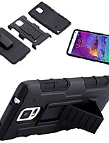 cheap -For Samsung Galaxy Note Shockproof / with Stand Case Back Cover Case Armor PC Samsung Note 5 / Note 4 / Note 3
