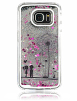 For Samsung Galaxy Case Flowing Liquid Case Back Cover Case Dandelion PC Samsung S6 edge / S6 / S5 / S4