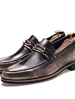 Men's Shoes Patent Leather Fall Winter Formal Shoes Loafers & Slip-Ons Lace-up For Casual Party & Evening Red Brown Black