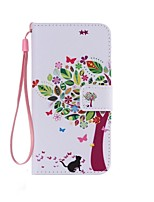 cheap -Cat and Tree Painted PU Phone Case for Galaxy Grand Prime G530/Xcover 3 G388F/Core Prime G360/J7/J5/J1