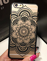cheap -Retro Flower Pattern Openwork Relief Printing PC Material Phone Case for iPhone 6s 6 Plus