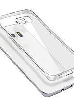 TPU Ultra-Thin Transparent Soft Shell With Dustproof Plug for Samsung Galaxy S6 Edge Plus/S6 Edge/S6